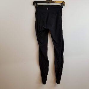 Lululemon black pants with braided mesh size 4